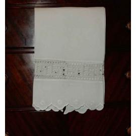 White Linen Hand Towel
