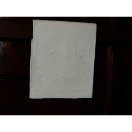 White Hand Embroidery Hand Towel