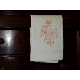 Intertwined Initials Hand Towel