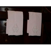 Pink Embroidered Hand Towel