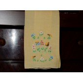 Yellow Hand Embroidery Hand Towel