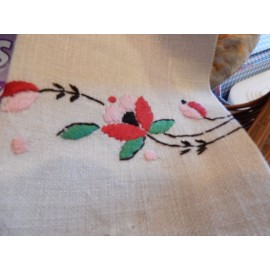 Red and Black Floral Hand Towel