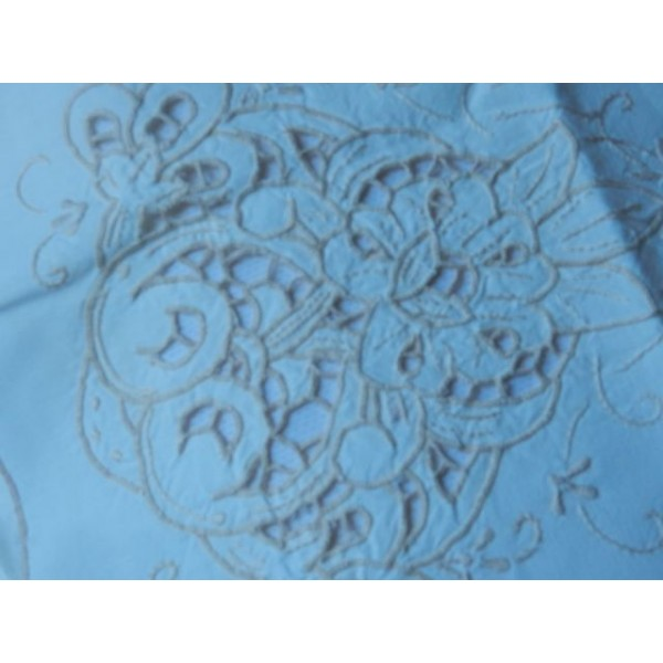 Floral Cut Work Pillow Case