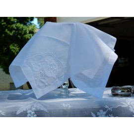 White Sheer Organza Napkins