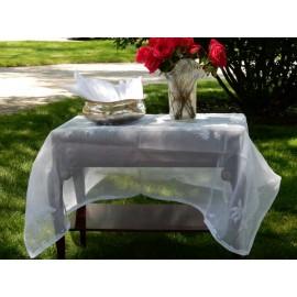 White Sheer Organza Tablecloth