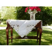 Off White Cotton Tablecloth