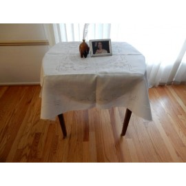 Mesh and Embroidery Medium Tablecloth